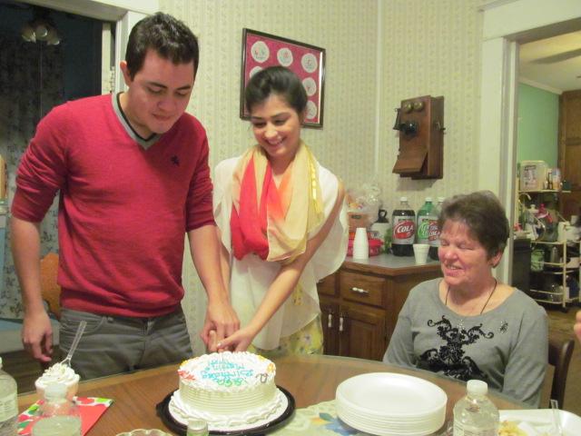 Martin Roa and Tripti Giri with Dot Brauner, their Friendship Family.