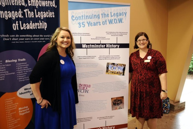 Drs. Kas Lacey and Cinnamon Brown at the WOW luncheon last Alumni Weekend